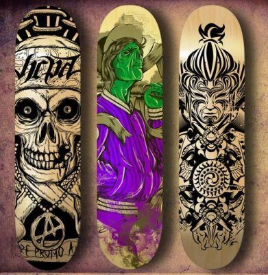 Arte sobre skateboards