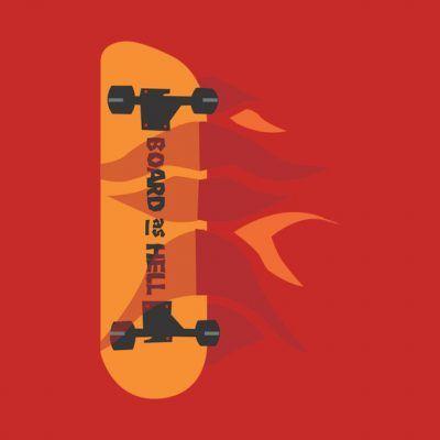 Camisetas bored de skateboard