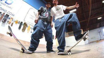 Pantalones land surfer de skateboard