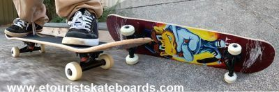 Skateboards bored