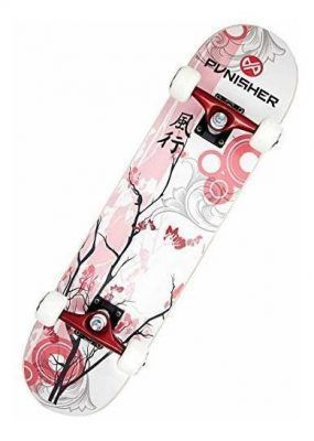 Skateboards color cereza