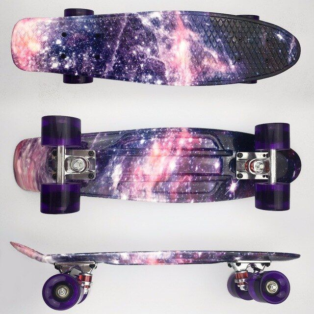 skateboards color púrpura