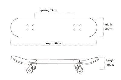Skateboards de 20 cm