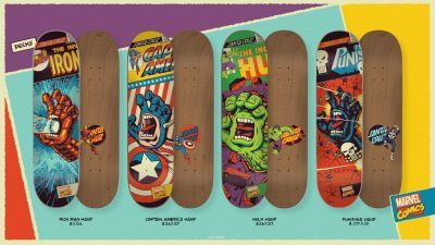 Skateboards de marvel