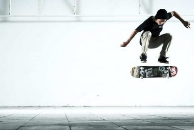 Skateboards kickflip