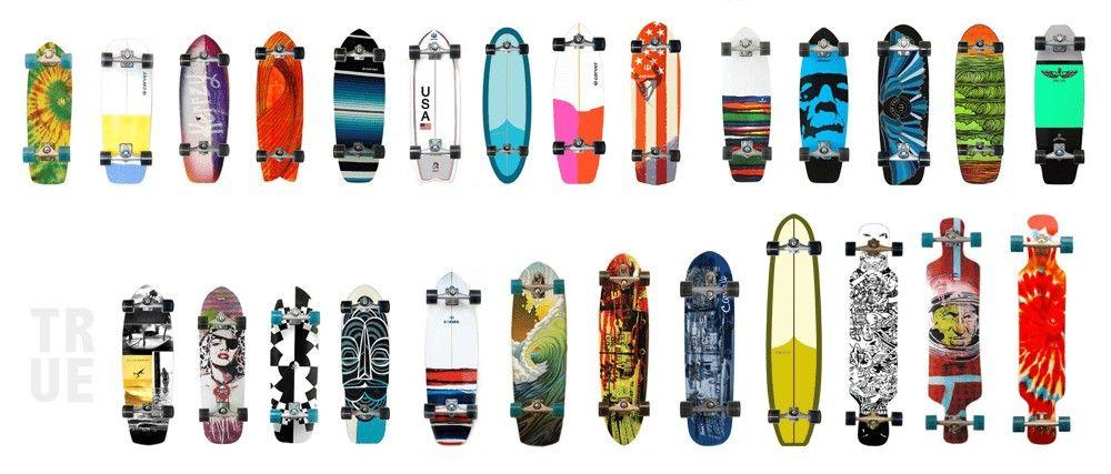 tablas carver para skateboard