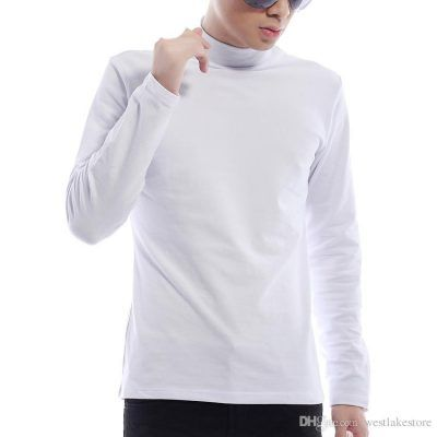 Camisetas interiores cuello alto hombre