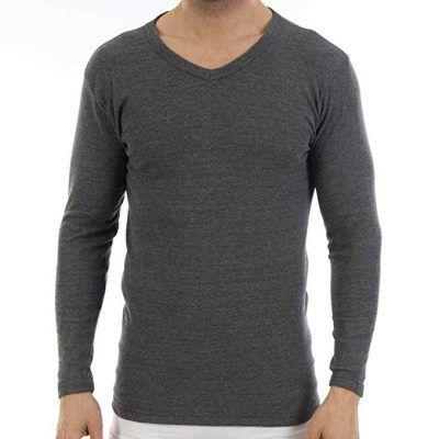 Camisetas interiores manga larga hombre