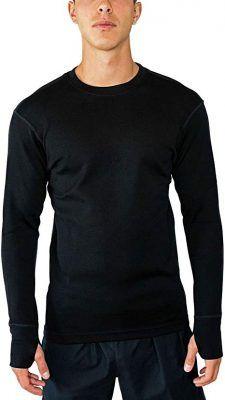 Camisetas lana merino hombre