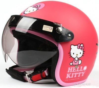 Cascos hello kitty