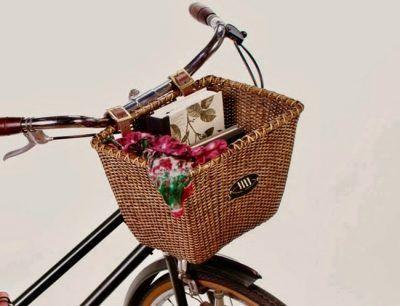 Cestas de mimbre para bicicletas