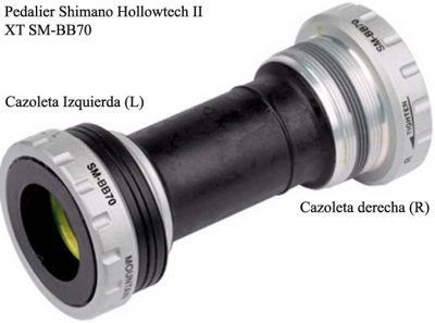 Ejes pedalier hollowtech ii