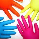 guantes de colores
