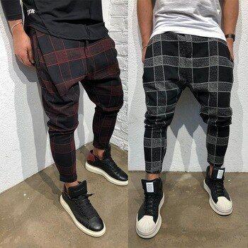 Pantalones escoceses hombre