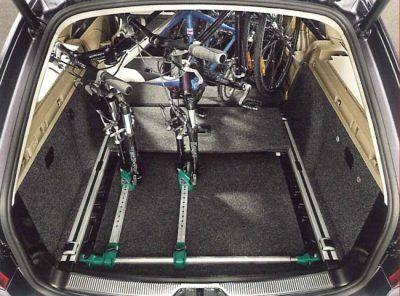 Portabicicletas interior coche
