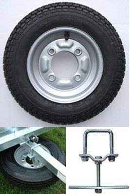 Soporte ruedas repuesto remolque